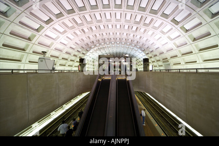 Washington DC Gallery Place Chinatown Metro subway Station with aerosol air quality security sniffer monitor - Stock Photo