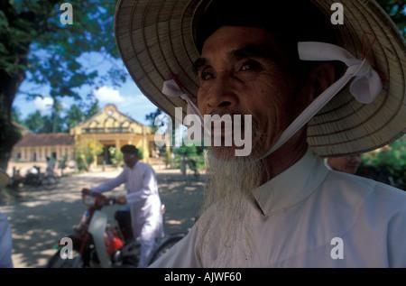 VIETNAM Tay Ninh Cao Dai temple of the Holy See - Stock Photo