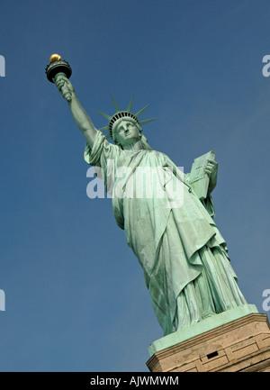 The Status of Liberty, New York Habour, USA - Stock Photo