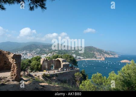 View from the Castle, Tossa de Mar, Costa Brava, Catalunya, Spain - Stock Photo