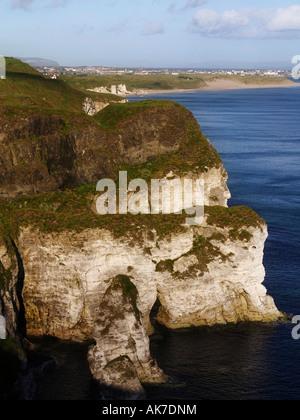 White Rocks, Portrush, Co. Antrim, Ireland - Stock Photo
