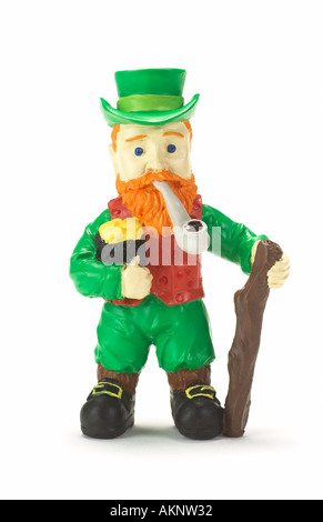 A Toy Irish Leprechaun - Stock Photo