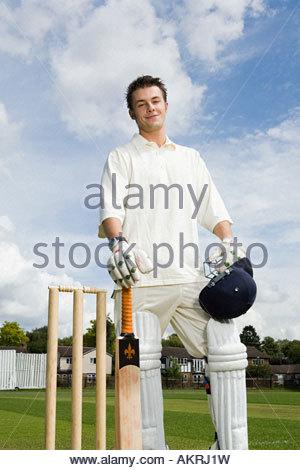 Portrait of a batter - Stock Photo