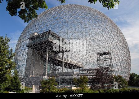 Biosphere on St Helen island Montreal Quebec Canada - Stock Photo