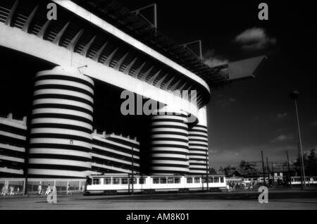 San Siro football stadium in Milan - Stock Photo