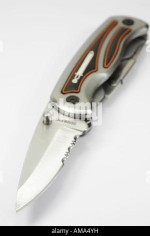 Open lock knife. - Stock Photo