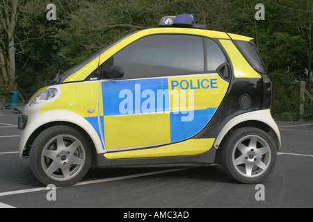 Police car Smart car in Somerset England - Stock Photo