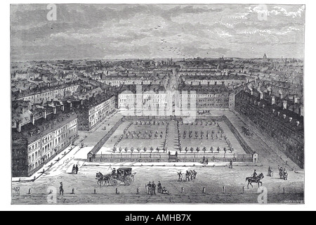 1840 red lion square Bloomsbury Holborn fine garden City royal urban London Greater capital England English Britain - Stock Photo