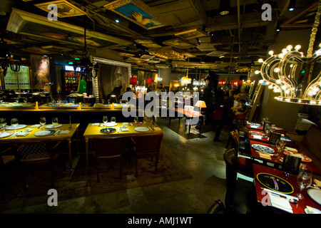 Lan an Upscale Restaurant Designed by Philippe Starck Beijing China - Stock Photo