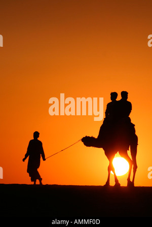 taken at the end of the jaisalmer desert festival eos 10d with canon 90 300 lenses cropped in ps cs - Stock Photo