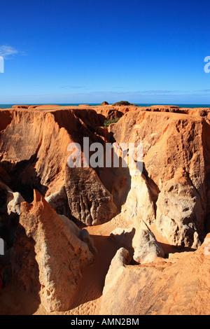 the Labyrinth between morro branco and beberibe near fortaleza ceara state brazil - Stock Photo