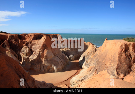 the Labyrinth between morro branco and beberibe near fortaleza ceara state brazil - Stock Photo