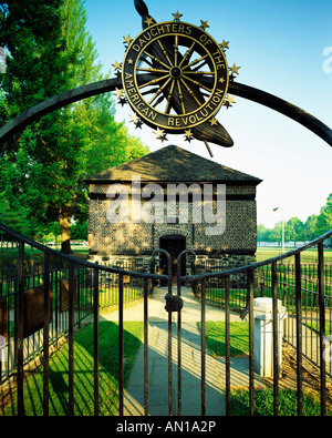 Block House Featured At Fort Pitt, Built 1764 By Col. Henry Boquet; Point Park, Pittsburgh, Pennsylvania, USA - Stock Photo