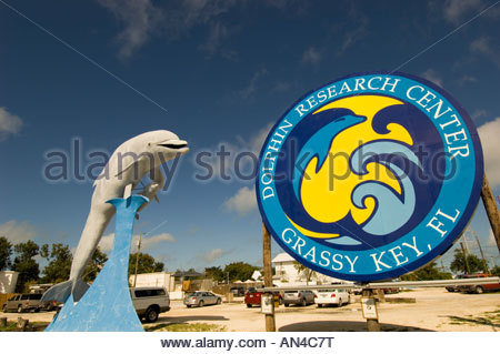 Florida Keys, Dolphin Research Center In Grassy Key - Stock Photo