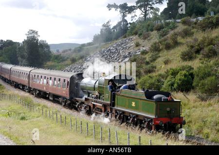City of Truro, Steam Train on the Strathspey Railway near Boat of Garten. Scotland. XTR 3169-316 - Stock Photo