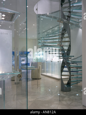 Boodle and Dunthorne, Jewellers Shop, Lord Street, Liverpool. Interior. Architect: Eva Jiricna Architects - Stock Photo
