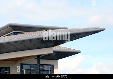 Detail of Technium building at Swansea Marina Wales UK - Stock Photo