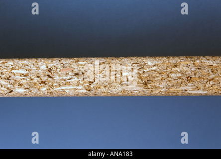 chipboard seen edge on shows composition - Stock Photo