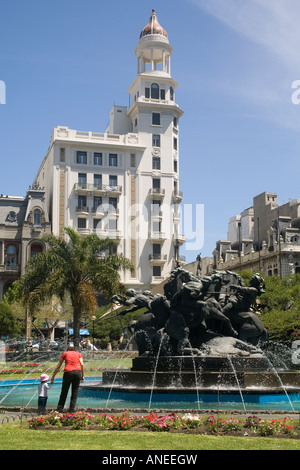 Uruguay Montevideo Plaza Fabini - Stock Photo