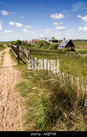 UK Suffolk Southwold path along dunes beside Ferry Road - Stock Photo