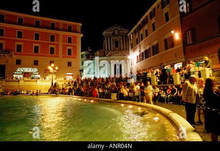Trevi Fountain Fontana di Trevi Italy Rome Piazza di Trevi - Stock Photo