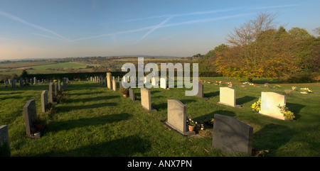 Tardebigge churchyard on the route of the monarchs way long distance footpath worcestershire - Stock Photo