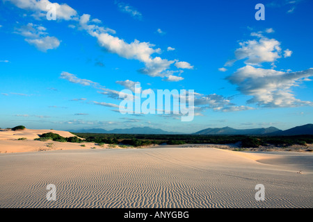 sand dune of cumbuco in ceara state brazil - Stock Photo