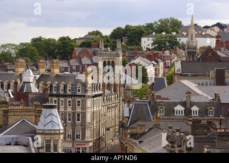 Building Rooftops Stow Hill Newport South East Wales - Stock Photo