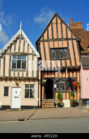 The Crooked House Gallery, Lavenham, Suffolk, UK - Stock Photo
