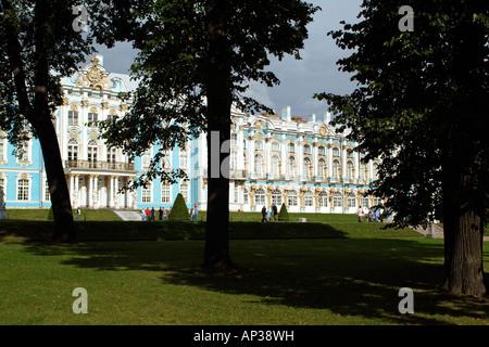Catherine Palace at Tsarkoe Selo St Petersburg Russia - Stock Photo