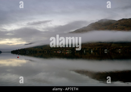 Early morning looking across Lock Goil Argyll, Scotland, UK - Stock Photo