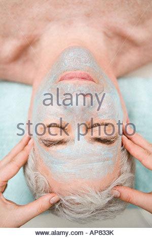 Man having a head massage - Stock Photo