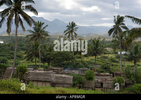 Evatraha village, Lokaro Bay, near Taolagnaro, Fort Dauphin, Madagascar - Stock Photo