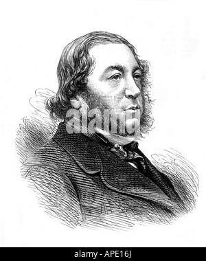 Rothschild, Mayer Amschel Baron de, 29.6.1818 - 6.2.1874, British politician (Lib.), portrait, wood engraving, 19th - Stock Photo
