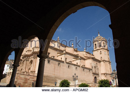 The baroque church Colegiata de San Patricio in the centre of Lorca Murcia Spain - Stock Photo