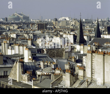 geography / travel, France, Paris, city views, Montmartre, view over roofs of Paris, , Additional-Rights-Clearances - Stock Photo