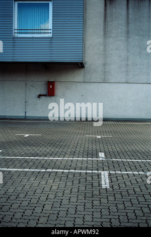 Empty parking lot - Stock Photo