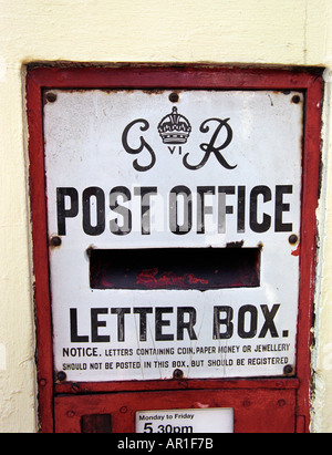 An old style Post Office post box - Stock Photo