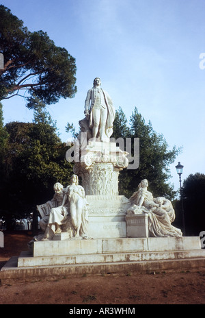 Monument to Goethe in Villa Borghese, Rome - Stock Photo