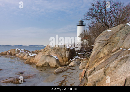 Annisquam Lighthouse, Gloucester, Massachusetts - Stock Photo
