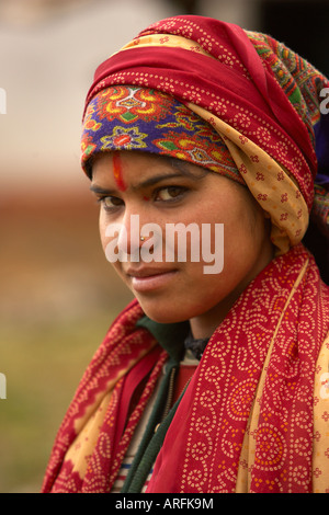 Portrait shot of a you indian girl - Stock Photo