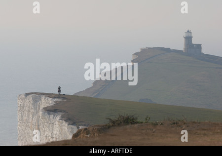 Belle Tout lighthouse near Beachy Head South Downs - Stock Photo