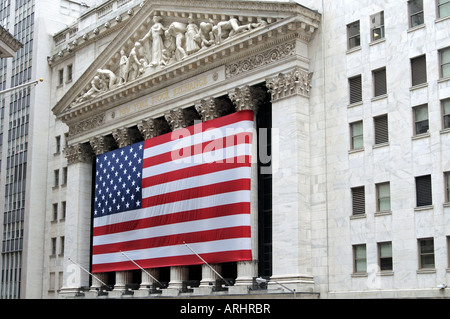 New York Stock Exchange Wall Street New York USA - Stock Photo