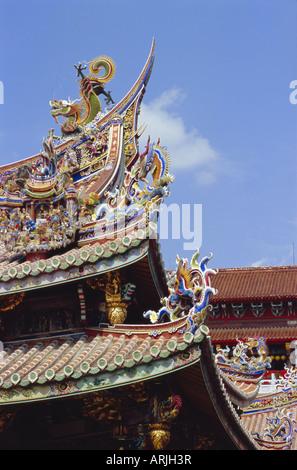 Architectural detail, Taipei, Taiwan, Republic of China, Asia - Stock Photo