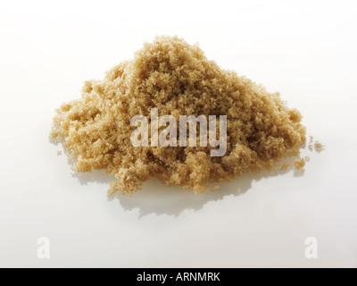 Light Muscovado unrefined  sugar - Stock Photo