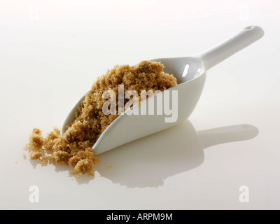 Light Moscavado granulated sugar - Stock Photo