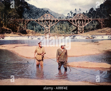 BRIDGE ON THE RIVER KWAI 1957 Columbia film with Alec Guinness and Sessue Hayakawa - Stock Photo