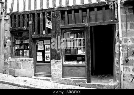 The Old Librarie, Rue de la Boucherie, Limoges France - Stock Photo