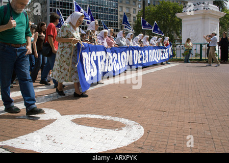 Mothers of Plaza de Mayo protest , Buenos Aires, Argentina - Stock Photo