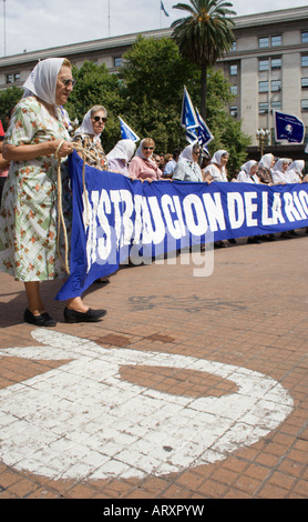 Mothers of Plaza de Mayo protest , Buenos Aires , Argentina - Stock Photo